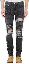 AMIRI Men's Distressed Shotgun Jeans-GREY