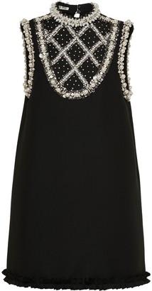 Miu Miu Pearl And Crystal-Embellished Dress