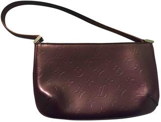 Louis Vuitton Pochette Accessoire Burgundy Leather Clutch bags