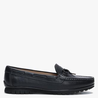 Globo Ginny Navy Leather Moccasins