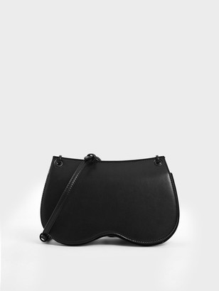 Charles & Keith Eyelet Crossbody Bag