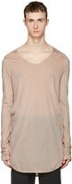 Julius Pink Round Cut & Sewn T-Shirt