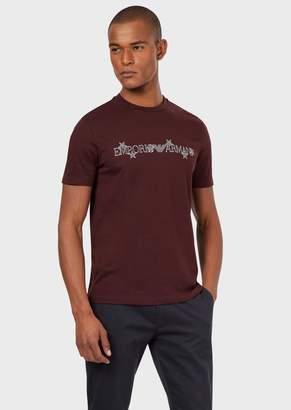 Emporio Armani Pima Jersey T-Shirt With Logo And Stars