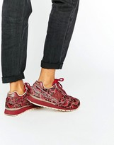 Le Coq Sportif Red Floral Print Pony Hair Eclat Sneakers