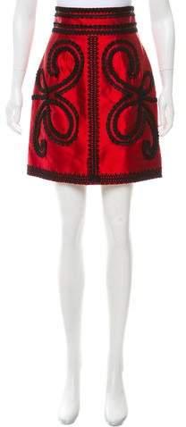 Dolce & Gabbana Embroidered Silk Skirt