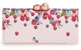 Ted Baker Women's Scatter Pansy Leather Matinee Wallet - Pink