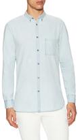 Zanerobe Woven Sportshirt with Button-Down Collar