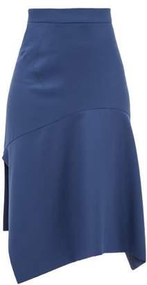 Vivienne Westwood Phoenix Bias-cut Virgin-wool Skirt - Womens - Navy