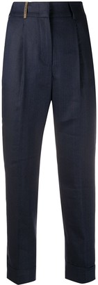 Peserico Front Pleats High Waisted Trousers