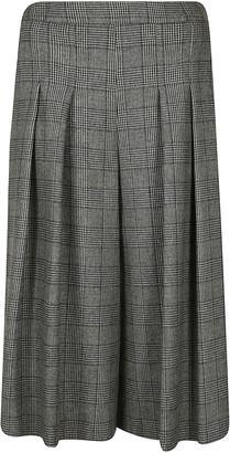 Moschino High-waist Pleated Culottes