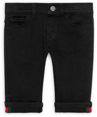 Gucci Baby Boy's Striped Cuff Jeans