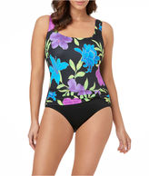 LE COVE Le Cove Solid One Piece Swimsuit
