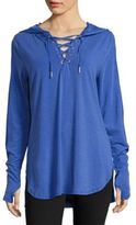 Nanette Lepore Lace-Up Hooded Shirt