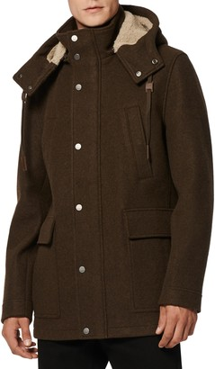 Andrew Marc Newport Parka with Genuine Shearling Lined Hood