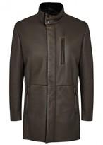Giorgio Armani Brown Shearling Coat