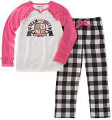 Juicy Couture Pink Raglan Pajama Set - Girls