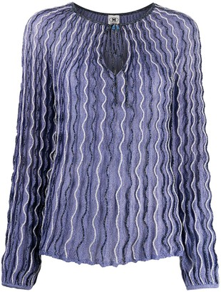 M Missoni Wave-Pattern Knitted Top