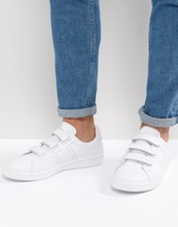Fred Perry B721 Leather Velcro Trainers White