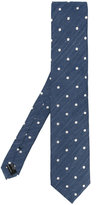 Tom Ford classic dot blend tie - men - Silk/Linen/Flax - One Size
