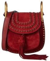 Chloé Hudson Mini Braided Suede Shoulder Bag.