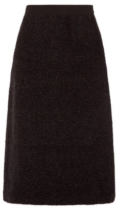 Sara Lanzi A Line Tinsel Skirt - Womens - Black