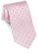 Eton Men's Geometric Flower Silk Tie