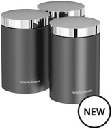 Morphy Richards Accents Set Of 3 Storage Canisters – Titanium