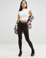 Asos High Waisted Stretch Skinny Pants with Zips