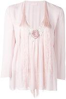 Giamba fringed V-neck blouse