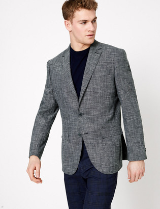 Marks and Spencer Big & Tall Regular Fit Textured Jacket