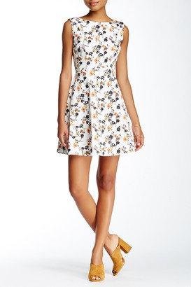 French Connection Sahara Rose Fit & Flare Dress