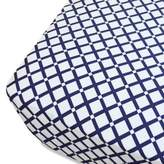 Oliver B Mix & Match Fitted Crib Sheet in Navy Checks