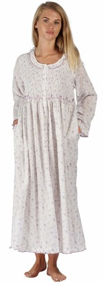 The 1 for U Womens Nightgown - Housecoat - Dressing Gown 100% Cotton - Elsa (Small