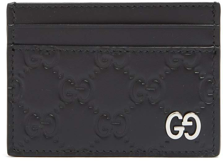 Gucci GG-debossed leather cardholder