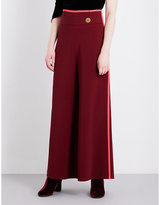 Peter Pilotto Contrast-trim wide cropped high-rise woven culottes
