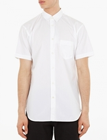 Comme Des Garcons Shirt White Short-sleeved Cotton Shirt