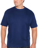 Claiborne Short Sleeve Drop Needle Tee-Big and Tall