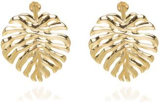 Coco Mango Jewellery Monstera Leaf 18K Gold Earrings