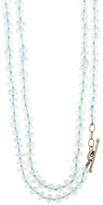 Cathy Waterman Long Aqua Bead Necklace