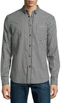 Rag & Bone Yokohama Check Long-Sleeve Sport Shirt, Black