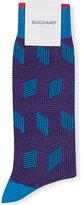 Duchamp Geometric Cotton-blend Socks