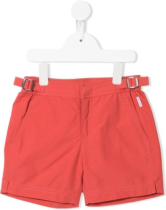 Orlebar Brown Kids Buckle-Detail Shorts