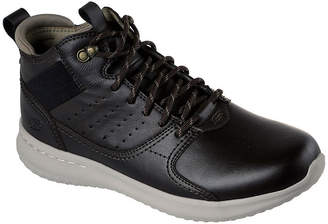Skechers Mens Delson Oxford Shoes Round Toe