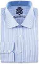 English Laundry Checked Long-Sleeve Dress Shirt, Blue