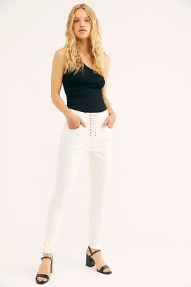 We The Free CRVY High-Rise Lace-Up Skinny Jeans