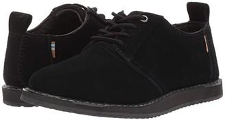 TOMS Kids Ivan (Little Kid/Big Kid) (Black Suede) Boy's Shoes