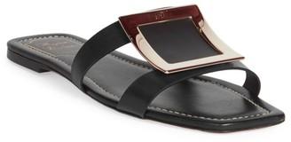 Roger Vivier Leather Flat Sandals
