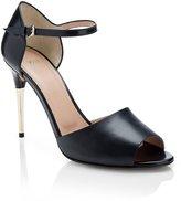 HUGO BOSS 'Shony' | Leather Metal Heel Sandal by BOSS