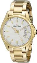 Lucien Piccard Men's 98660-YG-22S Excalibur Textured Dial Gold Ion-Plated Stainless Steel Watch