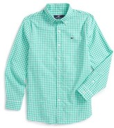 Vineyard Vines Boy's Great Harbour Gingham Whale Woven Shirt